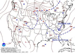 Sunday AM Surface Chart